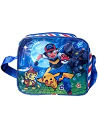 OKJI Picakachu Sling Bag Side Bag Clutch Bag For Kids 2 To 10 Years With Adjustable Strap In Pink Color With Back...