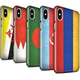 STUFF4 Glanz Snap-On Hülle / Case für Apple iPhone X/10 / Pack 28pcs / Asien Flagge Kollektion