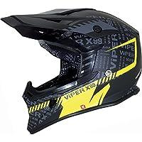 Viper RS-X99STEREO Casco da motocross, Attitude Yellow, M