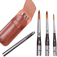Juego de pinceles para pintar, travel brush set(#4 $8 #12)