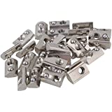 BQLZR plata de acero al carbono de la mitad Ronda rollo en para Europea estándar 20Serie Ranura de perfil de aluminio de extrusión 30unidades