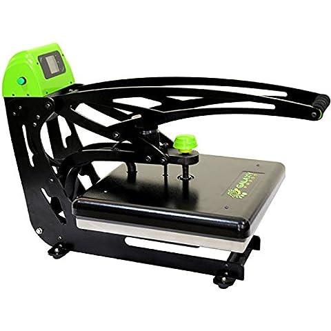 Heat Press Machine Galaxy, sublimazione Tranfer Press DP50, manuale Clam shell Press, 38 x 38 cm