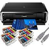 Canon Pixma iP7250 Tintenstrahldrucker mit WLAN, Auto Duplex Druck (9600x2400 dpi, USB) + USB Kabel & 20 Youprint Tintenpatronen (Originalpatronen ausdrücklich nicht im Lieferumfang)