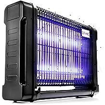 Duronic FK8420 Lámpara Matamoscas - Mata insectos Voladores Eléctrico 2 Bombillas de 10W – Luz Ultravioleta Mata Moscas – Mosquitos – Zancudos - Polillas – Avispas