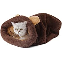 PAWZ Road Cat Sleeping Bag Fleece Soft Self Warming Camas Lavables para Gatos Snuggle Sack Matket