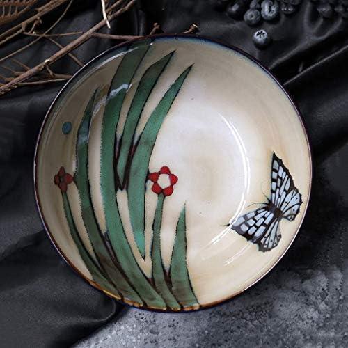 Insalatiera Creativo in ceramica da tavola retrò ramen mano ciotola dipinta a mano ramen ciotola di noodle ciotola di riso casa insalata di frutta ciotola noodle istantanea 7,5 pollici (20 cm di diametro, 6 cm d 0c0df3