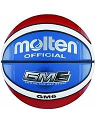 Molten BGMX6-C Ballon de basket Rouge/blanc/bleu Taille 6