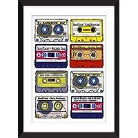 David Bowie Albums - Retro Cassette Artwork - Ideal Gift for Bowie Fans/Sans Cadre