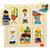 Goula - Puzzle profesiones, piezas de madera (Diset 53070)