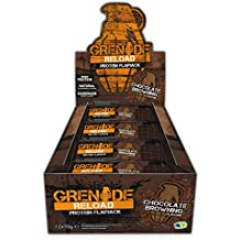 Grenade Reload 70g Chocolate Browning Protein Flapjacks - Pack of 12 Bars
