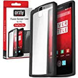 Orzly® - FUSION Bumper Case para OnePlus ONE - Fusión Gel Funda en NEGRO (CHARCOAL BLACK) con Posterior enTransparent - Designed para ONE PLUS ONE SmartPhone (Alias: Flagship Model of Smart Phone named ONE Released by ONE PLUS / New 2014 Release / Original Premier Launch Version / ONE PLUS ONE / OPO / etc.) - Fits ALL Models and Versions from 2014 Original Version and onwards