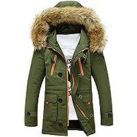 UJUNAOR Mantel Männer Frauen Paare Warme Lässige Mode Kapuzen Pelzkragen Lange Baumwolljacke Unisex Outdoor Hoodie