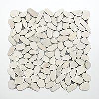azulejos mosaico azulejos de mosaico Kiesel corte piedra natural 9mm # 428