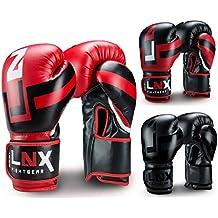 "LNX Boxhandschuhe ""Performance Pro"" 10 12 14 16 Oz - ideal für Kickboxen Boxen Muay Thai MMA Kampfsport uvm"