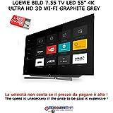 'LOEWE Bild 7.55TV LED 554K Ultra HD 3d Wi-Fi Graphite Grey