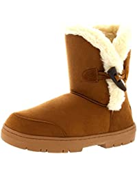 Mujer One Toggle Roap Thick Fur Lined Impermeable Invierno Nieve Rain Botas