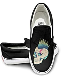 sport999 – 001 Unisex Impresionante Calavera Punk Rock Face Fashion Zapatillas ...
