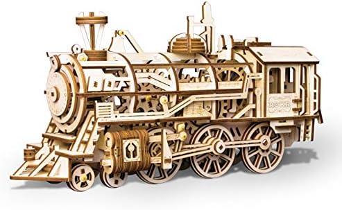 ZHX Puzzle en Bois Bois Bois 3D Fait Main Bricolage C Artisanat de modèle en Bois mécanique stéréo, Locomotive rotative à Engrenages Assembler, Cadeau d'anniversaire Jouet pour  s | Produits De Qualité  6c1da5