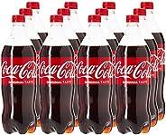 Coca-Cola Regular Carbonated Soft Drink , Pet Bottle -1 Litre (Pack of 12)
