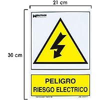 Wolfpack 15050515 Cartel Peligro Electrico 30x21