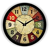 E Deals Vintage Classic Roulette Printed Wall Clock 10 Inches Round Shaped Designer Wall Clock with Glass for Home/Living Roo