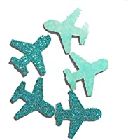 Konfetti Flugzeug türkisblau glitter (handgemacht Konfetti)