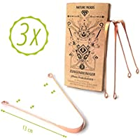 3 Zungenreiniger aus Kupfer – Nature Nerds, ♻ Verpackung zu 100% recycelt ♥ ♥ ♥ JihwaPrakshalana – Ein ayurvedischesEntgiftungs-Ritual mit demZungenschaber