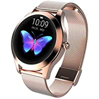 Zwbfu KW10 Smart Watch Sportwatch Women IP68 Waterproof Heart Rate Monitoring BT Fitness Tracker for Android iOS Fitness Bracelet Smartwatch