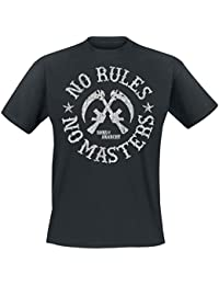 Sons of Anarchy Rules No Masters T-Shirt Noir