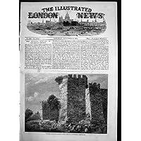 Una Stampa Antica della Fotografia Robertson 1856 di Costantinopoli di Sette Torri - Antichi Da Collezione Delle Fotografie