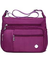 Bolso de hombro mujer, E Ekphero Bolso de Crossbody de nylon impermeable Bolsa de mensajero para vacaciones viajes y el uso diario