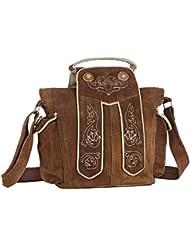 Handtasche aus Echtleder, 20cm, dunkelbraun