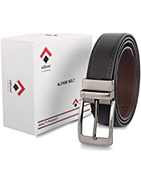 Alfami Men's PU Leather Reversible Belt | Black/Brown | Formal / Casual |# Free Size upto 44