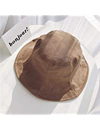 Y-XM Packable Cuenca Sombreros Algodón Lino Respirable Unisexo Sólido Color  Sol Gorra Anti- 5c7c8e93fa4