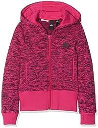 Adidas niña ID cálido Cover Up Chaqueta con Capucha de, Niñas, DJ1409, Real Magenta/Black, 140