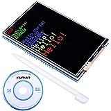 "Kuman UNO R3 3.5"" Pantalla Táctil TFT con Conector de Tarjeta SD y Función del Táctil para Arduino Mega 2560 Board Módulo SC3A-1"