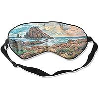Comfortable Sleep Eyes Masks Sea Coastal Printed Sleeping Mask For Travelling, Night Noon Nap, Mediation Or Yoga preisvergleich bei billige-tabletten.eu