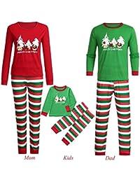 b02e72ae48463 Pitashe Ensemble Pyjama Noel Famille Père Noël Mère Garçon Fille Bébé  Pyjamas à Deux Pièces Set