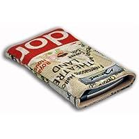 Norrun Lindis Handytasche aus Textil-Stoff maßgeschneidert mit Mikrofasereinlage, Strahlenschutz ersetzt die Tasche von Hersteller / Modell Apple iPhone 6S