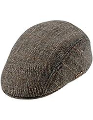 Gorra de Golf Plana - gris a cuadros