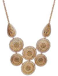 Shining Diva Fashion Jewellery Antique Gold Modern Western Party Wear Necklace For Women Stylish Necklace For...