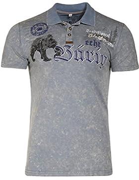 Michaelax-Fashion-Trade Marjo - Herren Trachten T-Shirt, M17 Bärig (670100-020040)