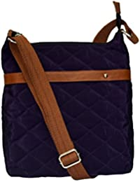 Prodigy Premium Cloth & Genuine Leather Messenger Sling Bag Travel Casual Outing Bag Crossbody Shoulder Side Bag...