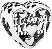 Pandora Women's Love for Mother Charm - 792067EN23, Sterling Si