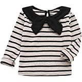 Outtop(TM) Men's Oft Long Sleeve Striped Soft Tops Shirt Clothes - B07FDWYS9B