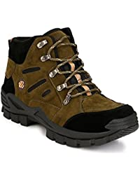 MENFOLKS Men's Faux Leather Outdoor Boot