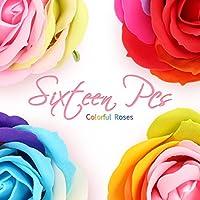 Skymore Lot de 16 Roses Parfumée Savon Fleur Coffret Cadeau , Rose Artificielle Corps Pétale Fleur Savon pour la Main ou Bain, Parfait pour Anniversaire Mariage Décoration