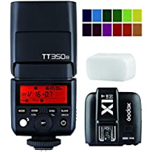 Godox Mini TT350N TTL Hss 2.4GHz Flash with X1T-N Flash Trigger Transmitter for Nikon Cameras - GN36 HSS(Max.1/8000s) 0.1-2.2s Recycle Time 210 Full Power Flashes 22 Steps of Power Output(1/1-1/128) 24-105mm Auto/Manual Zooming