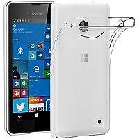 Funda Microsoft Lumia 550, AICEK Microsoft Lumia 550 Funda Transparente Gel Silicona Lumia 550 Premium Carcasa para Lumia 550