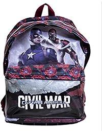 Mochila Capitan America Civil War Marvel grande